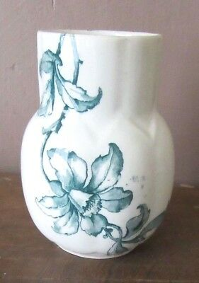 Victorian China Vase Bishop & Stonier Bisto England Azalea Pattern