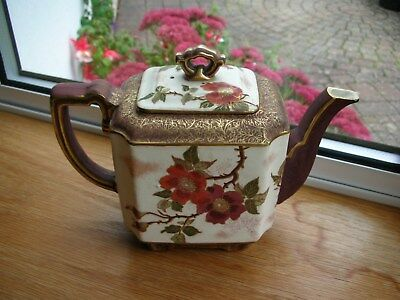 Vintage, Chinese Style, Hand Painted Teapot