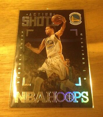 2015-16 Panini Hoops Action Shots #6 STEPHEN CURRY
