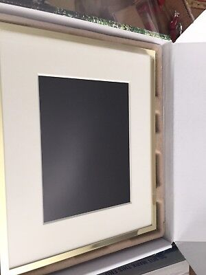 "Polaroid 8"" Polished Brass Metal + Mat Hi-Resolution Digital LED Picture Frame"