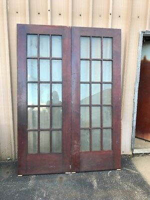 Cm 221 Match Pair Antique Burch French Doors 5' X 84""
