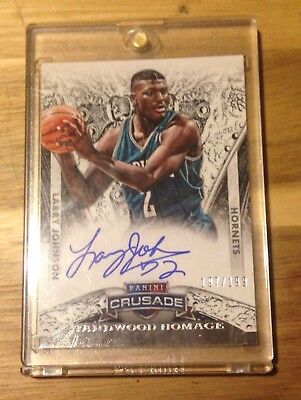 2013-14 Panini Crusade Hardwood Homage #11 LARRY JOHNSON on card auto /199