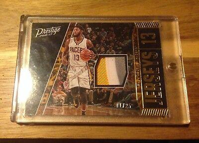 2016-17 Panini Prestige Jerseys Prime #30 PAUL GEORGE Patch 1/25