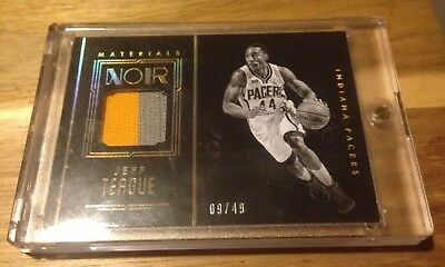 2016-17 Panini Noir Materials Prime Color #12 JEFF TEAGUE Patch /49
