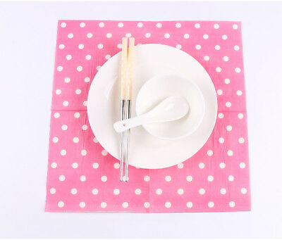 Classic Series 20 Pcs Of Each Pack Party Paper Napkin 33X33CM 2 Ply Pattern 6