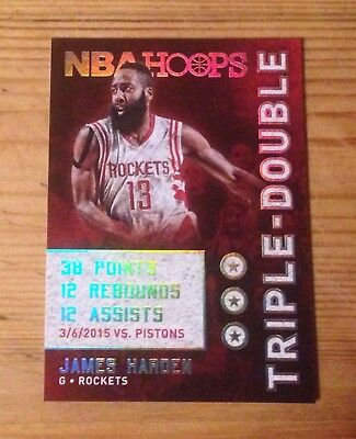 2015-16 Panini Hoops Triple Double #29 JAMES HARDEN