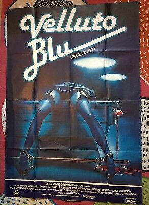 Original Italian poster for David Lynch's 'Blue velvet' (1986).