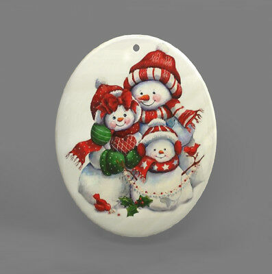 Color Printing Snowman Shell Christmas Pendant Necklace R1709 0066