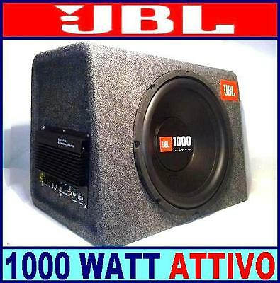 Bass Box Attivo Jbl Cs1214 Subwoofer + Amplificatore 1000 Watt Cassa Cs-1214