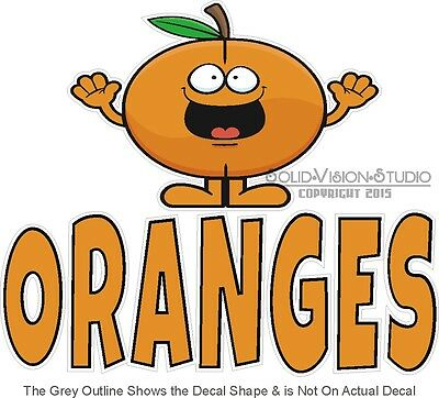 """7"""" Oranges Farmers Market Fresh Fruit Produce Sales Stand Concession Sign Decal"""