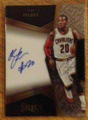 2016-17 Panini Select Rookie Signatures KAY FELDER /299 on card auto