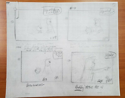 Ruff And Reddy Photocopy Of Original Joe Barbera Storyboard