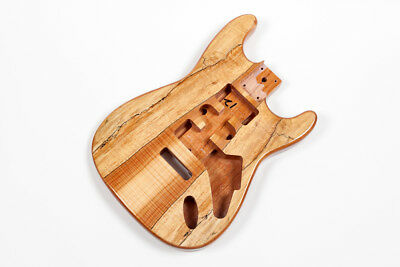 Cuerpo guitarra Stratocaster caoba - Mahogany Spalted Maple electric guitar body