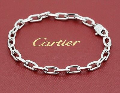 Cartier Spartacus Link Bracelet in 18k White Gold. Pouch & Service Certification