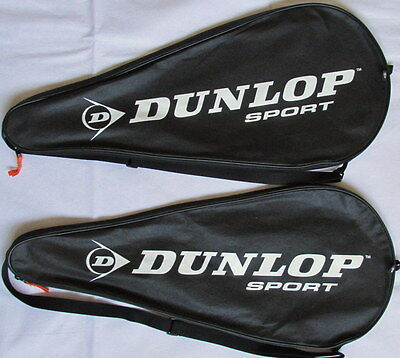 Free Postage ! Pair Dunlop Tennis Racket Covers For Regular / Oversize Rackets