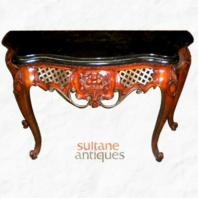 Gorgeous American Rococo Ornate Hallway Table console