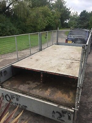 Ifor Williams False Trailer Floor 12 Feet Long Chequer Plate Top Very Strong