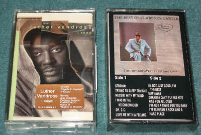 (2) R&B Soul LOT Lp Cassette Tape Clarence Carter Luther Vandross ALL SEALED!!
