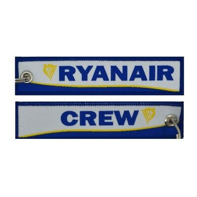 Ryanair Single Keyholder With Ryanair On One Side And ( Ryanair ) Crew On Other