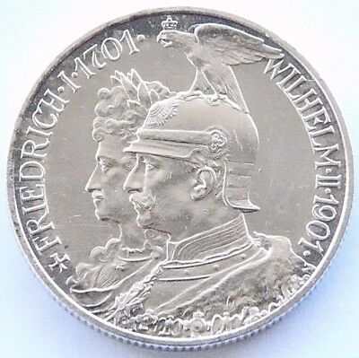 GERMAN Coin 2 Mark States PRUSSIA 1901 A WILHELM II. Anniversary 90% Silver WWI