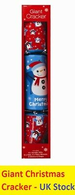 Giant 75cm Christmas Snow Man Jumbo Cracker Fun Family Dinner Prank Large 29.5''