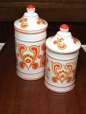 Vintage mid century ceramic canisters made in Japan