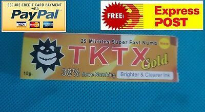 1 x Tktx38% gold tattoo cream numb numbing wax eyebrows lazer