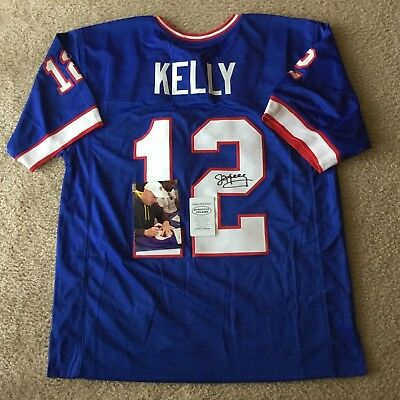 Hof Jim Kelly Authentic Signed Autographed Nfl Bills Football Jersey Coa