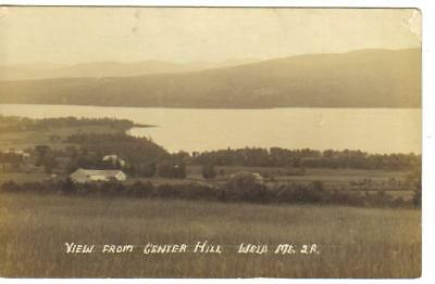 View from Center Hill, Weld, Maine, RPPC, Unused (4774)