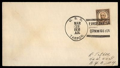 Mayfairstamps USS TARPON FIRST DAY IN COMMISSION MAR 12 1936 SLOGAN CANCEL ON CO