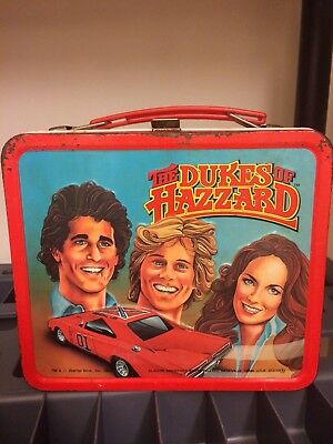 VINTAGE SUPER RARE 1983 Dukes Of Hazzard Lunch Box With Thermos Great Cond.