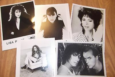 Lot of 5  8 x 10 photos Female Singers B&W promos ROCK/POP