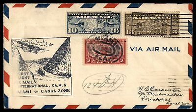 Mayfairstamps MIAMI FL FIRST FLIGHT FAM 5 FEB 4 1929 CACHET ON AIR MAIL COVER TO