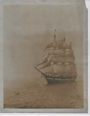 1922 Photo Of The Whaling Bark Wanderer From Down To The Sea In Ships