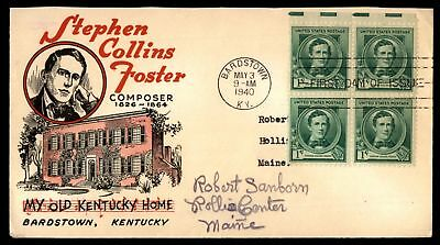 Mayfairstamps STEPHEN COLLINS FOSTER OLD HOME BARDSTOWN KY CACHET ON SEALED FDC