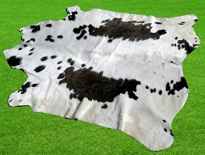 "New Cowhide Rugs Area Cow Skin Leather 16.32 sq.feet (50""x47"") Cow hide MB-10210"