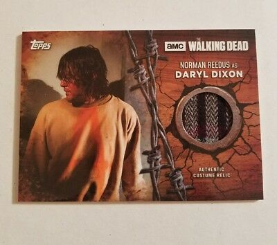 2017 Topps Walking Dead Season 7 Daryl Dixon Screen Worn Jacket Relic Patch Card