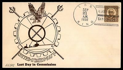 Mayfairstamps USS KING DD 242 LAST DAY IN COMMISSION SAN DIEGO CA SEP 21 1938 CA