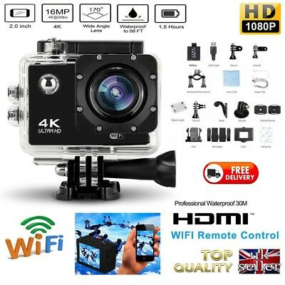 Go Sports Pro Action Hero 4 K Camera 16 MP WiFi Video Camcorder WATERPROOF HD
