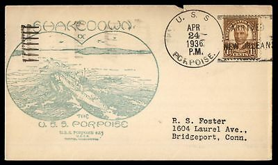 Mayfairstamps USS PORPOISE SHAKEDOWN CRUISE ARRIVED NEW ORLEANS LA APR 24 1936 C