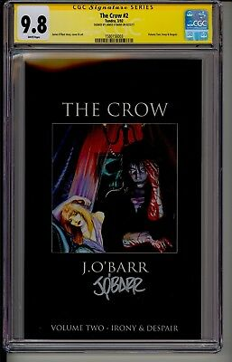 THE CROW #2 CGC 9.8 SS WP  Tundra 3/92  Signed by James O' Barr 1st Print MOVIE!