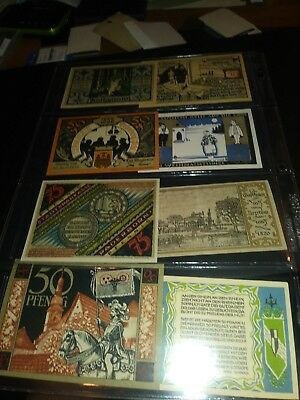 Lot502 Lot of 8 OLD GERMAN BANKNOTES PAPER MONEY