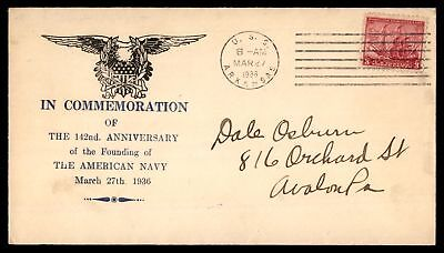 Mayfairstamps USS ARKANSAS MAR 27 1936 US NAVY 142ND ANNIVERSARY CACHET ON COVER