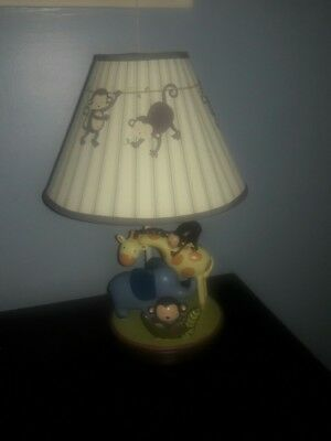 Kidsline Jungle 123 Baby Nursery Lamp Monkey, Elephant, Giraffe