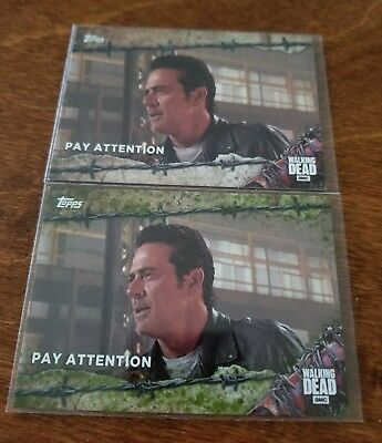 Negan 2017 Topps Walking Dead Season 7 SSP Mold Parallel #d /25 - New!