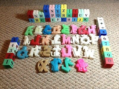 Vintage Alphabet Blocks And Set Of Alphabet Letters With Animals