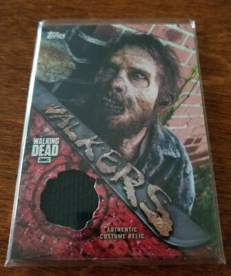 Zombie Walker 2017 Topps Walking Dead Season 7 SP Screen-Worn Costume Relic #3