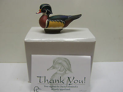 Jett Brunet Ducks Unlimited Miniature Decoys WOOD DUCK LIMITED EDITION  NIB DU