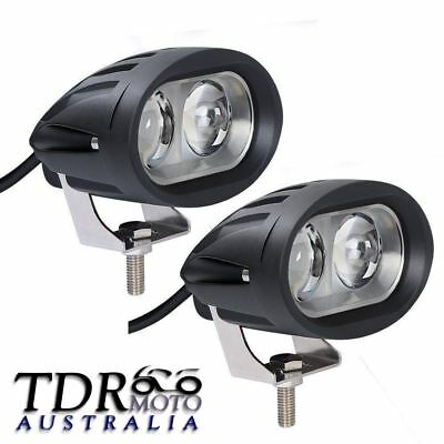 2X 20W 4D LENS Spot Beam LED Spot Light Motorcycle Fog Driving Light For Harley