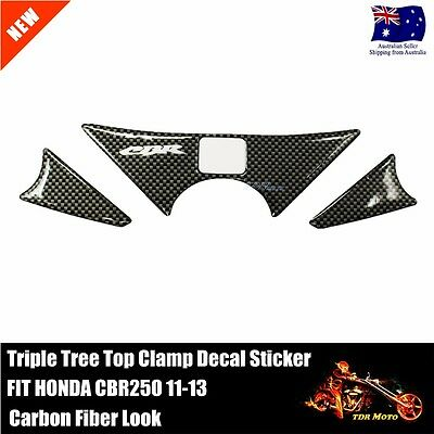 For HONDA CBR250 2011 2012 2013  Triple tree Protector Sticker Carbon Fiber Look